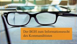 Informationsrecht des Kommanditisten